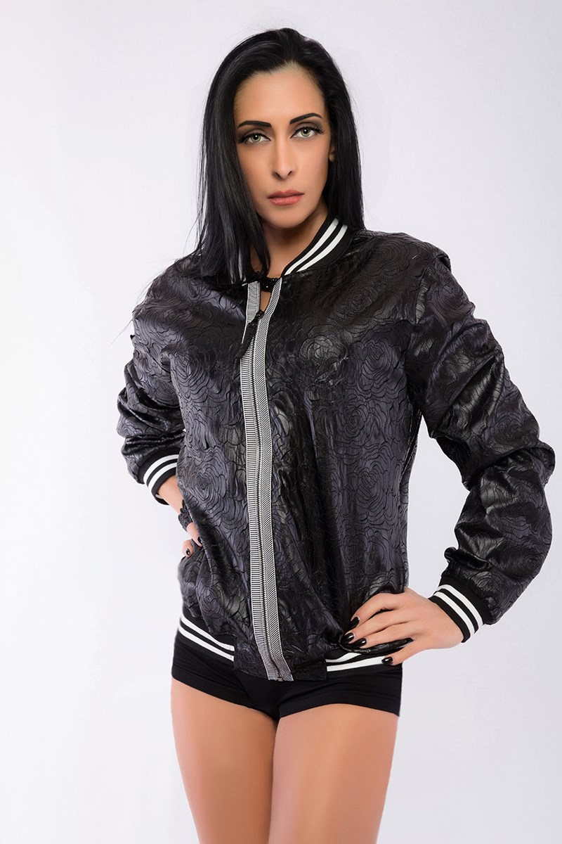 BOMBER JACKET ROSE ECO LEATHER - LUST