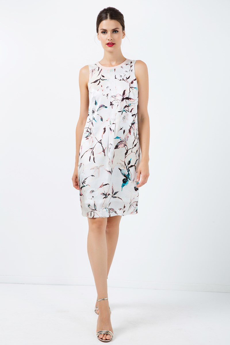 A Line Sleeveless Satin Dress