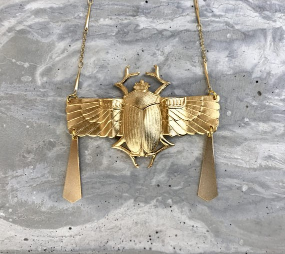 Golden scarab Necklace
