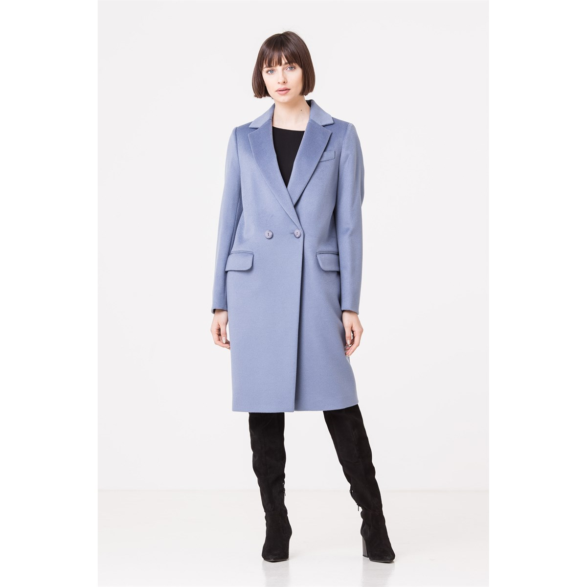 Straight Cut Italian Wool Coat