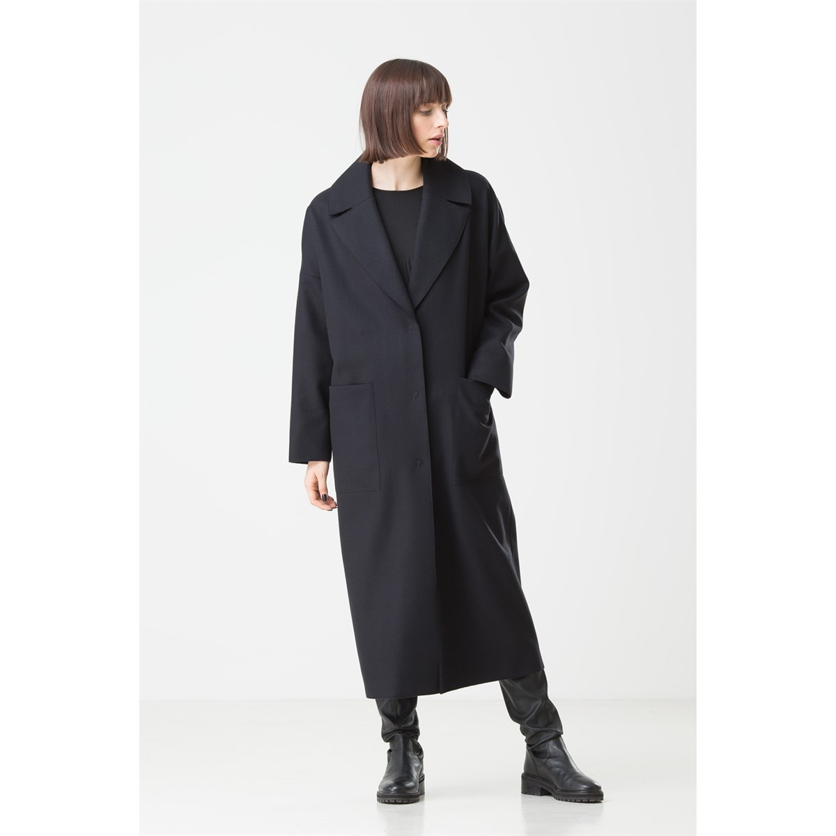 Trendy Virgin Wool Coat